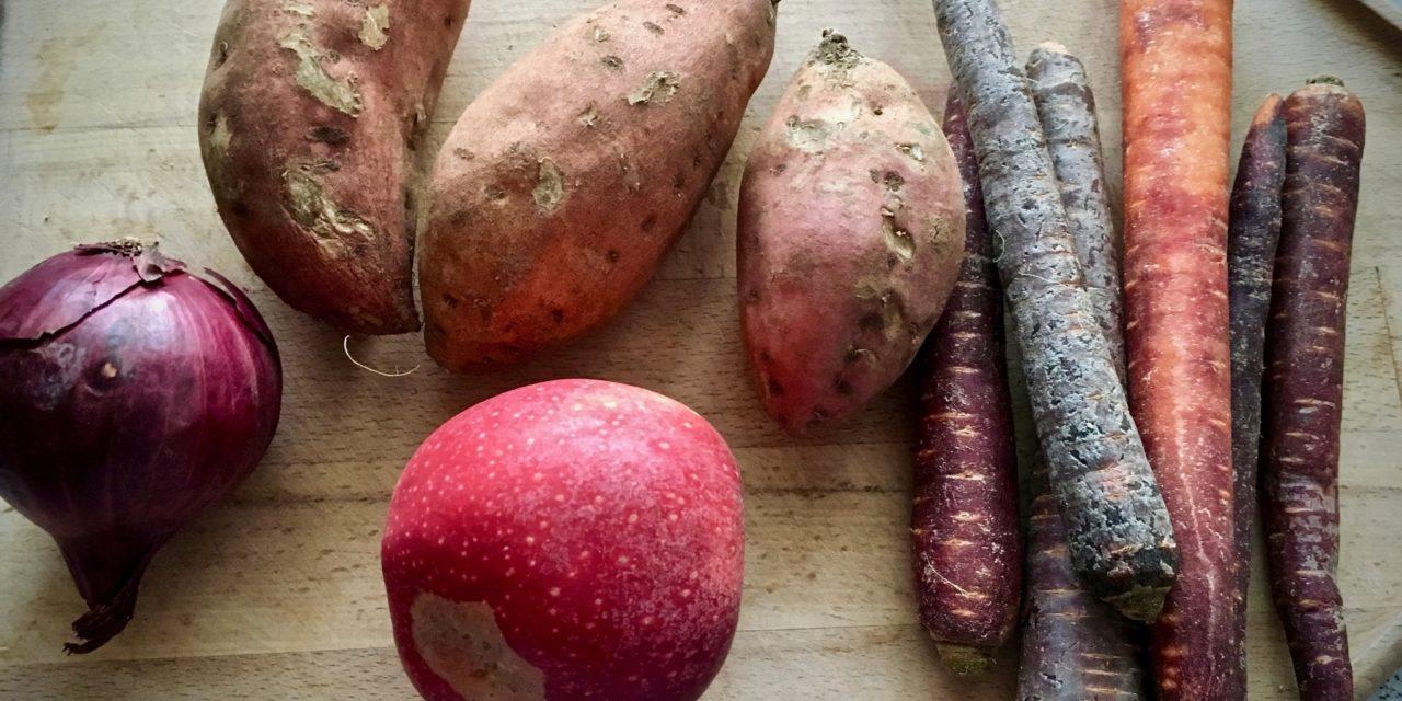 Karotten-Kokos-Suppe mit Süßkartoffeln