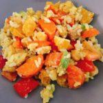 Leckerer fruchtiger Reissalat